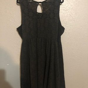 Maurices Black Lace Knee-Length Dress